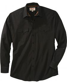Miller Ranch Solid Black Long Sleeve Western Dress Shirt