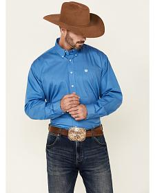 Cinch Solid Blue Shirt