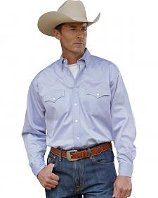 Miller Ranch Solid Light Blue Dress Shirt