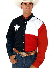 Roper Texas Flag Shirt