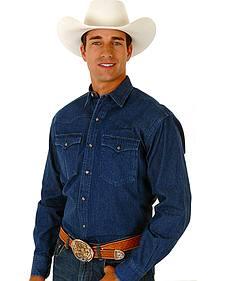 Roper Long Sleeve 8-Oz Denim Shirt