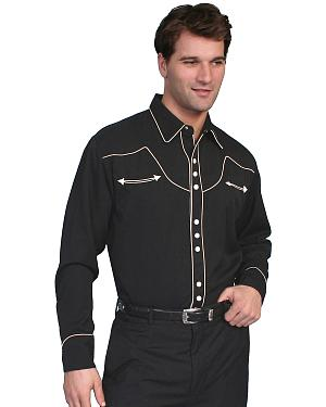 Scully Black Vintage Western Shirt