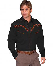 Scully Horse Embroidered Western Shirt