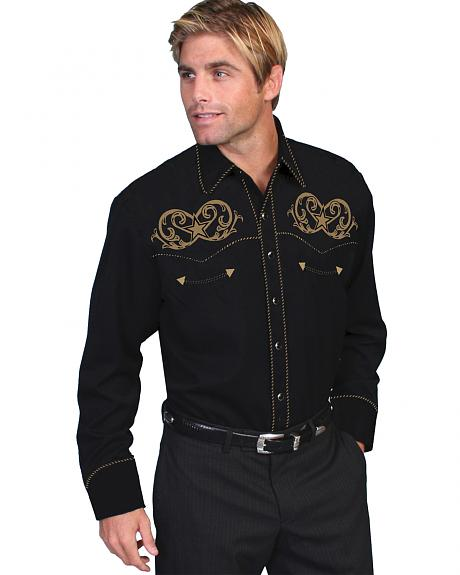 Scully Embroidered Star Scroll Shirt