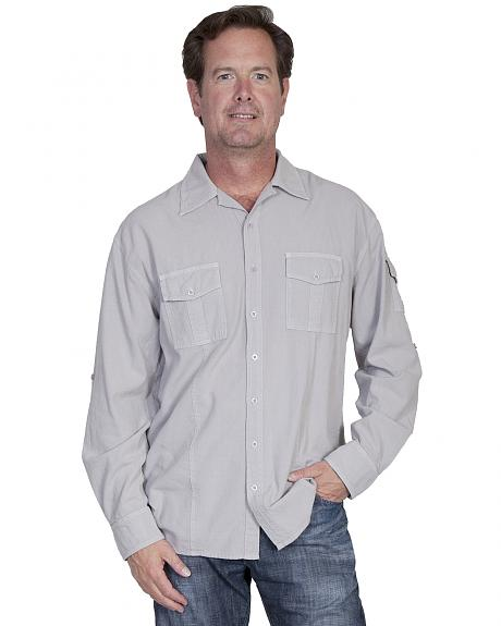 Scully Cantina Gusseted Pocket Shirt