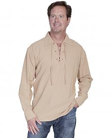 Scully Cantina Lace-Up Shirt