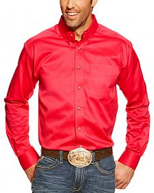 Ariat Strawberry Solid Twill Long Sleeve Shirt