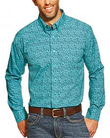 Ariat Kinney Navy and Turquoise Paisley Western Shirt
