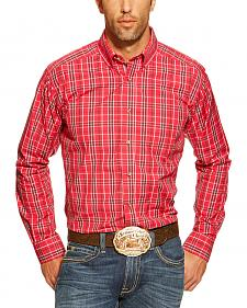 Ariat Fitted Yoakum Strawberry Plaid Western Shirt
