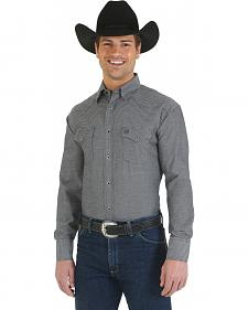 Wrangler George Strait Troubadour Black and Grey Long Sleeve Shirt