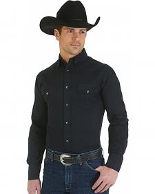 Wrangler George Strait Troubadour Black Western Shirt