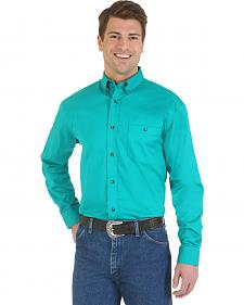Wrangler Men's Advanced Comfort Green Sport Shirt