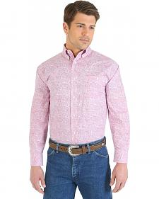 "Wrangler ""Tough Enough To Wear Pink"" Paisley Long Sleeve Shirt"