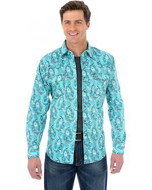 Wrangler 20X Turquoise Paisley Western Shirt