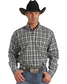 Cinch Men's Black Plaid Long Sleeve Shirt