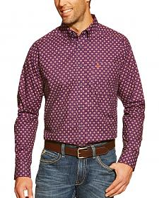 Ariat Fitted Bruno Black Orchid Print Western Shirt
