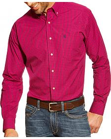 Ariat Fitted Dustin Violina Plaid Western Shirt