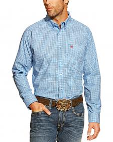 Ariat Chance Blue and Red Print Western Shirt