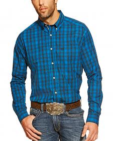 Ariat Campbell Blue Plaid Long Sleeve Shirt