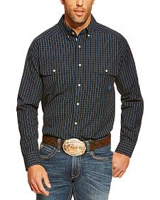 Ariat Conrad Black Plaid Double Pocket Western Shirt