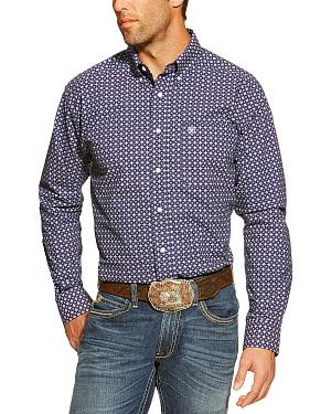 Ariat Montgomery Purple and White Print Western Shirt
