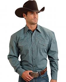 Stetson Men's Blue Dot Western Shirt