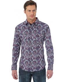 Wrangler 20X Grey Paisley Western Shirt