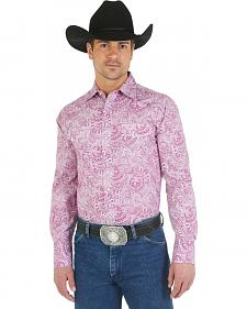"Wrangler ""Tough Enough To Wear Pink"" Paisley Western Shirt"