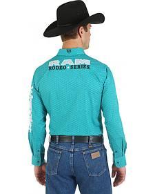 Wrangler Green Ram Logo Western Shirt