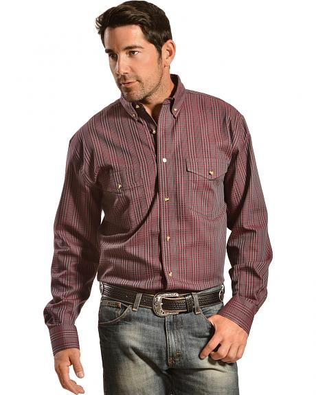 Gibson Trading Co. Men's Red Plaid Western Shirt