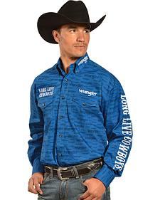 Wrangler Men's Exclusive Blue Logo Shirt