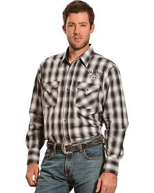 Jack Daniel's Men's Long Sleeve Plaid Logo Shirt