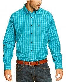 Ariat Men's Ace Blue Plaid Button Long Sleeve Shirt