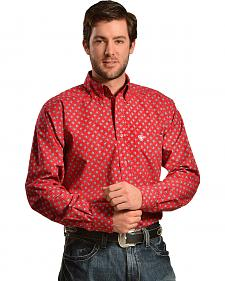Ariat Men's Crosby Fitted Print Red Western Shirt