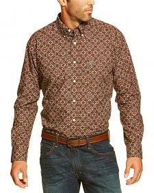 Ariat Men's Dante Flower Print Button Long Sleeve Shirt