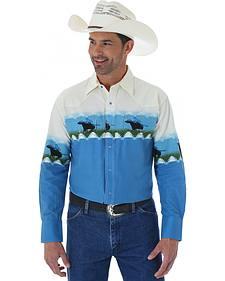 Wrangler Men's Checotah Border Print Western Shirt