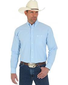 Wrangler George Strait Blue Stripe Western Shirt