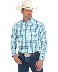 Wrangler George Strait Double Pocket Plaid Snap Shirt