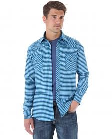Wrangler 20X Turquoise Print Western Shirt