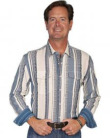 Scully Signature Series Striped Western Shirt