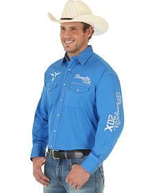 Wrangler 20X Blue Twill Logo Shirt