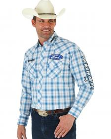 Wrangler Ford Blue Plaid Shirt