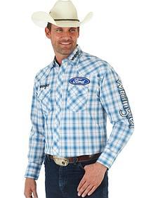 Wrangler Ford Blue Plaid Shirt