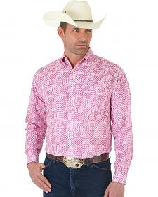 "Wrangler ""Tough Enough To Wear Pink"" Print Long Sleeve Shirt"