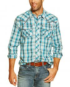 Ariat Men's Elmer Plaid Long Sleeve Snap Shirt