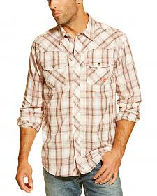 Ariat Men's Eli Plaid Long Sleeve Snap Shirt