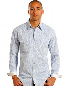 Rough Stock by Panhandle Slim Ombre Print Western Shirt