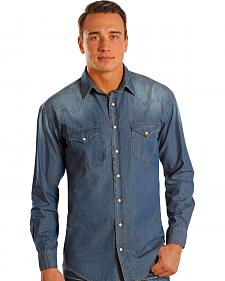 Rough Stock by Panhandle Slim Bodega Chambray Shirt