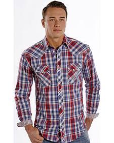 Rough Stock by Panhandle Slim Euclid Plaid Western Shirt