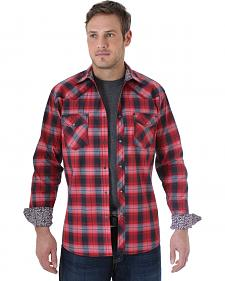 Wrangler Men's 20X Red and Black Plaid Western Shirt